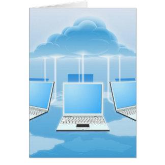 Concepto computacional de la nube felicitación