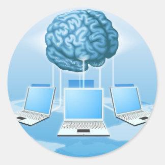 Concepto computacional del cerebro del ordenador