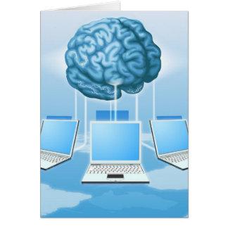 Concepto computacional del cerebro del ordenador tarjeta