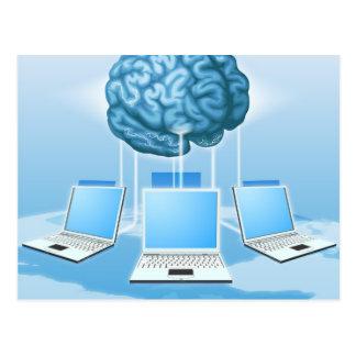 Concepto computacional del cerebro del ordenador postal