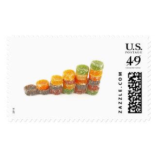 Concepto creativo del negocio del éxito dulce sello postal
