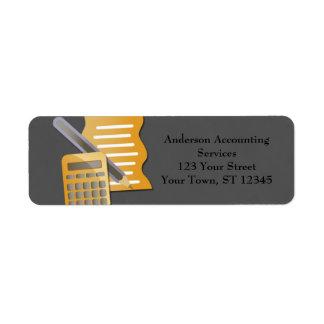 Concepto de contabilidad etiqueta de remite