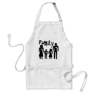 concepto de familia delantal