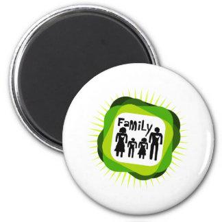 concepto de familia imán redondo 5 cm
