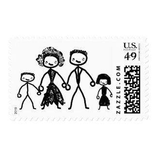 concepto de familia sello