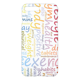 Concepto de la aptitud para la pérdida y la salud funda para iPhone 7 plus