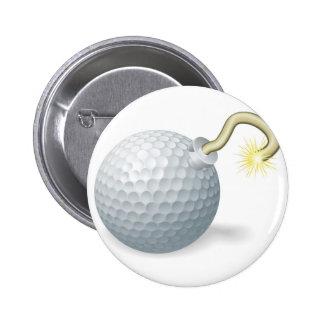 Concepto de la bomba de la pelota de golf pins