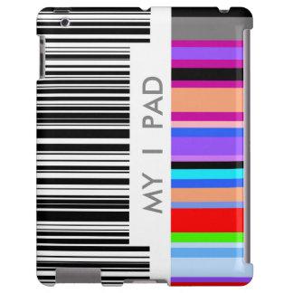 Concepto de la clave de barras de color.  con su funda para iPad