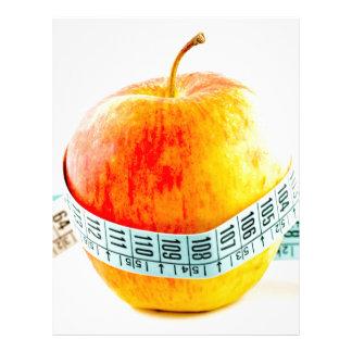 Concepto de la dieta plantilla de membrete