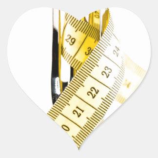 Concepto de la dieta pegatina en forma de corazón