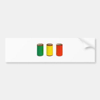 concepto de la gestión de energía - verde, rojo y  pegatina para auto