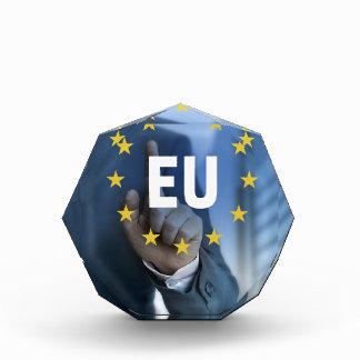 Concepto de la pantalla táctil de la unión europea