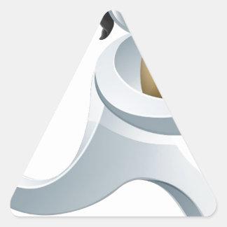 Concepto de la persona de la plata del ladrón del pegatina triangular