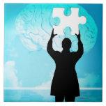 Concepto de la reunión de reflexión azulejo cuadrado grande