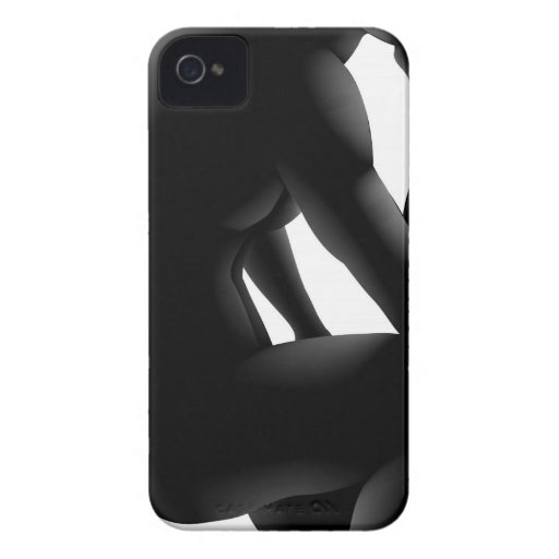 Concepto de la silueta del pensador Case-Mate iPhone 4 fundas