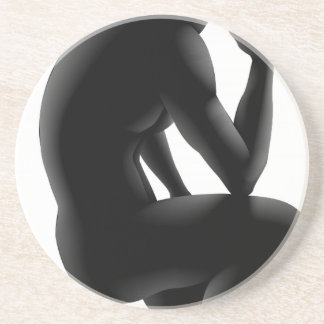 Concepto de la silueta del pensador posavasos diseño