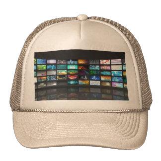 Concepto de la tecnología de producción de la gorra
