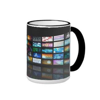 Concepto de la tecnología de producción de la taza de dos colores