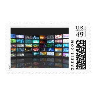 Concepto de la tecnología de producción de la timbres postales