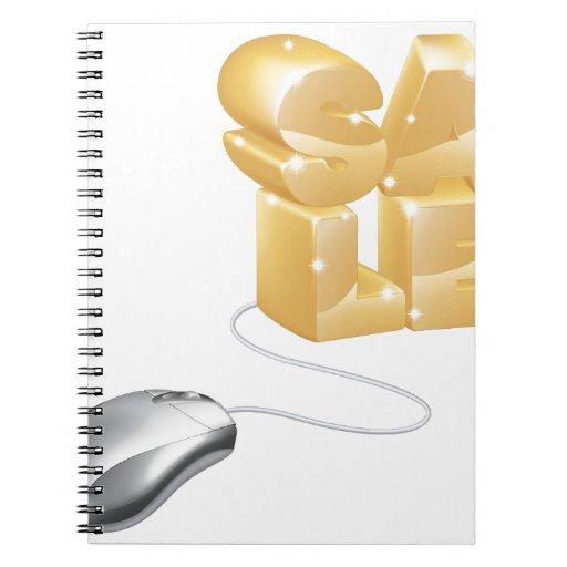 Concepto de la venta del Internet del ratón Cuaderno