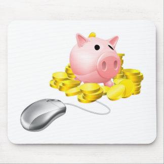Concepto de las actividades bancarias en línea tapetes de raton