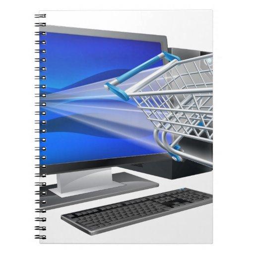 Concepto de las compras del ordenador libros de apuntes