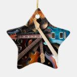 Concepto de las guitarras eléctricas ornamentos de navidad
