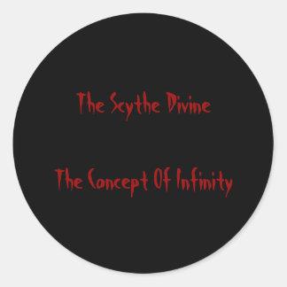 Concepto de pegatina del infinito