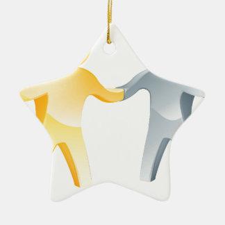 Concepto del acuerdo adorno de cerámica en forma de estrella
