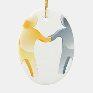 Concepto del acuerdo adorno ovalado de cerámica