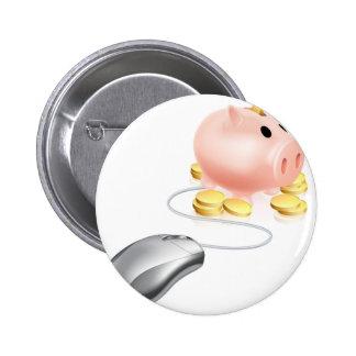 Concepto del ahorro del Internet Pins