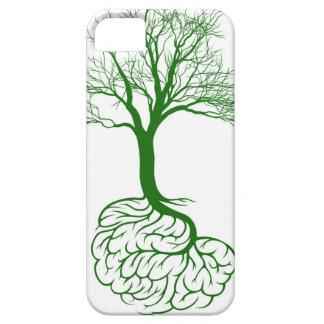 Concepto del árbol del cerebro iPhone 5 carcasa