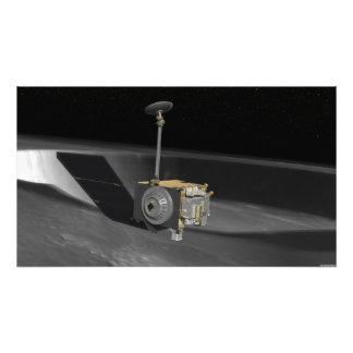 Concepto del artista del reconocimiento lunar Orbi Arte Fotográfico