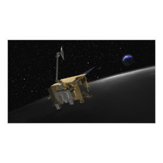 Concepto del artista del reconocimiento lunar Orbi Impresiones Fotográficas