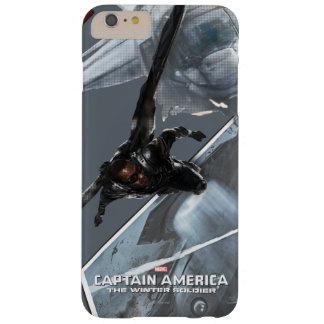 Concepto del carácter del halcón funda de iPhone 6 plus barely there