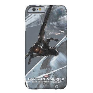 Concepto del carácter del halcón funda de iPhone 6 barely there