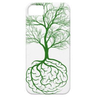 Concepto del cerebro de la raíz funda para iPhone 5 barely there