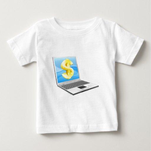 Concepto del dinero del dólar del ordenador tshirt