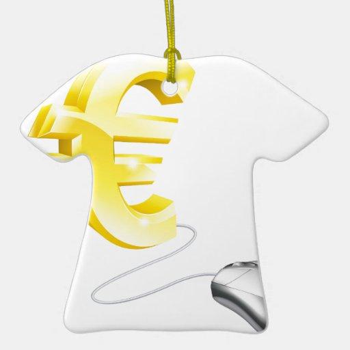 Concepto del euro del ratón del ordenador ornamento de navidad