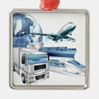 Concepto del globo del transporte de logística adorno