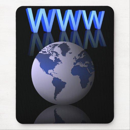 Concepto del Internet Alfombrillas De Raton