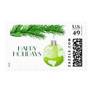 Concepto del navidad con el globo sellos