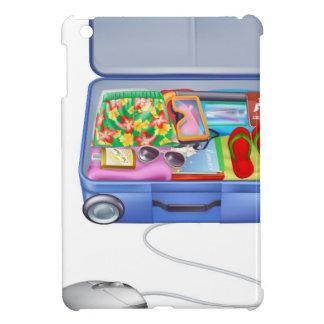 Concepto del ratón de la maleta de las vacaciones