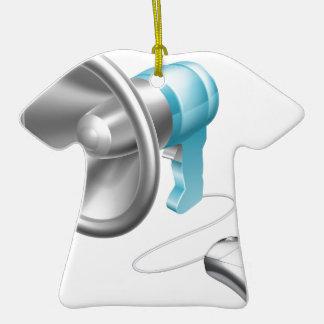Concepto del ratón del megáfono adorno de cerámica en forma de playera