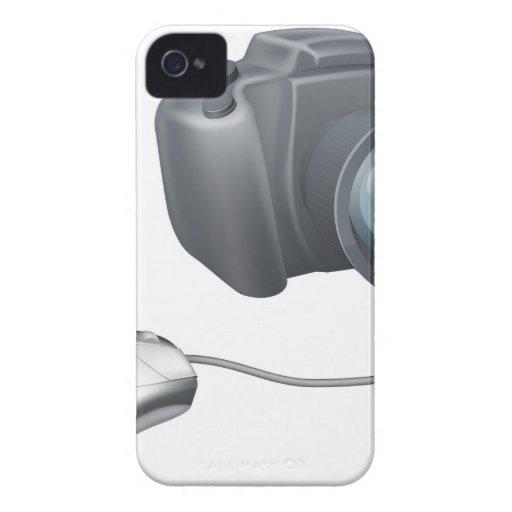 Concepto del ratón del ordenador de la cámara iPhone 4 Case-Mate cárcasa