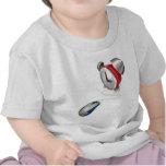 Concepto del ratón y del despertador camisetas