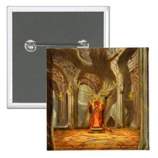 Concepto del sitio del trono del reino del arbolad pins