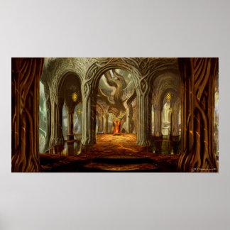 Concepto del sitio del trono del reino del arbolad póster