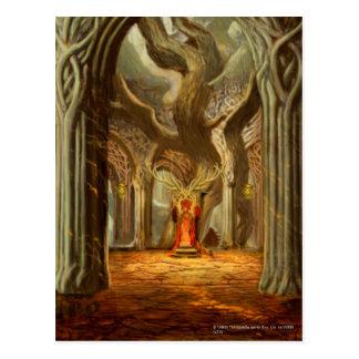 Concepto del sitio del trono del reino del tarjeta postal