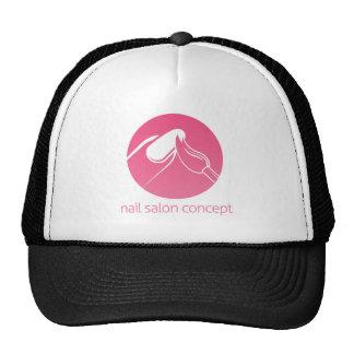 Concepto del técnico del clavo gorras